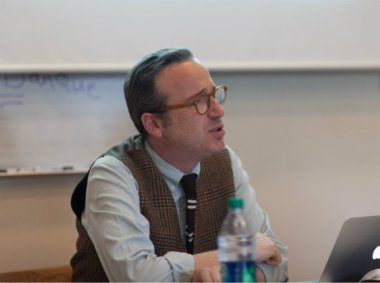 "Stephen A. Shapiro, PhD, taught an online course, ""Americans in Paris,"" for Bennington College alumni. Photo: Briee Della Rocca."