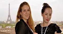 Samantha Kleinfeld, 25, (r.) majors in International Security in a two-year Masters program at Sciences Po, Paris.