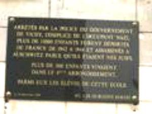 Marais enfants juifs - plaque photo by Arnelle