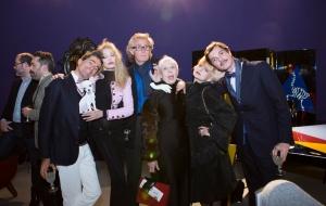 Paris creatives celebrate with (far left) Vincent Darré. Arielle Dombasle, Francis D'Orleans, Marie Beltrami, Catherine Baba, Elie Top