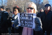 Martine, a Princeton University French teacher honored fallen French heroes - police officers and Charlie Hebdo satirists