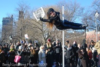 "Dancer Carolyn Chui is Charlie. . . ""Only in New York,"" commented Lamia, a French/Algerian New Yorker"